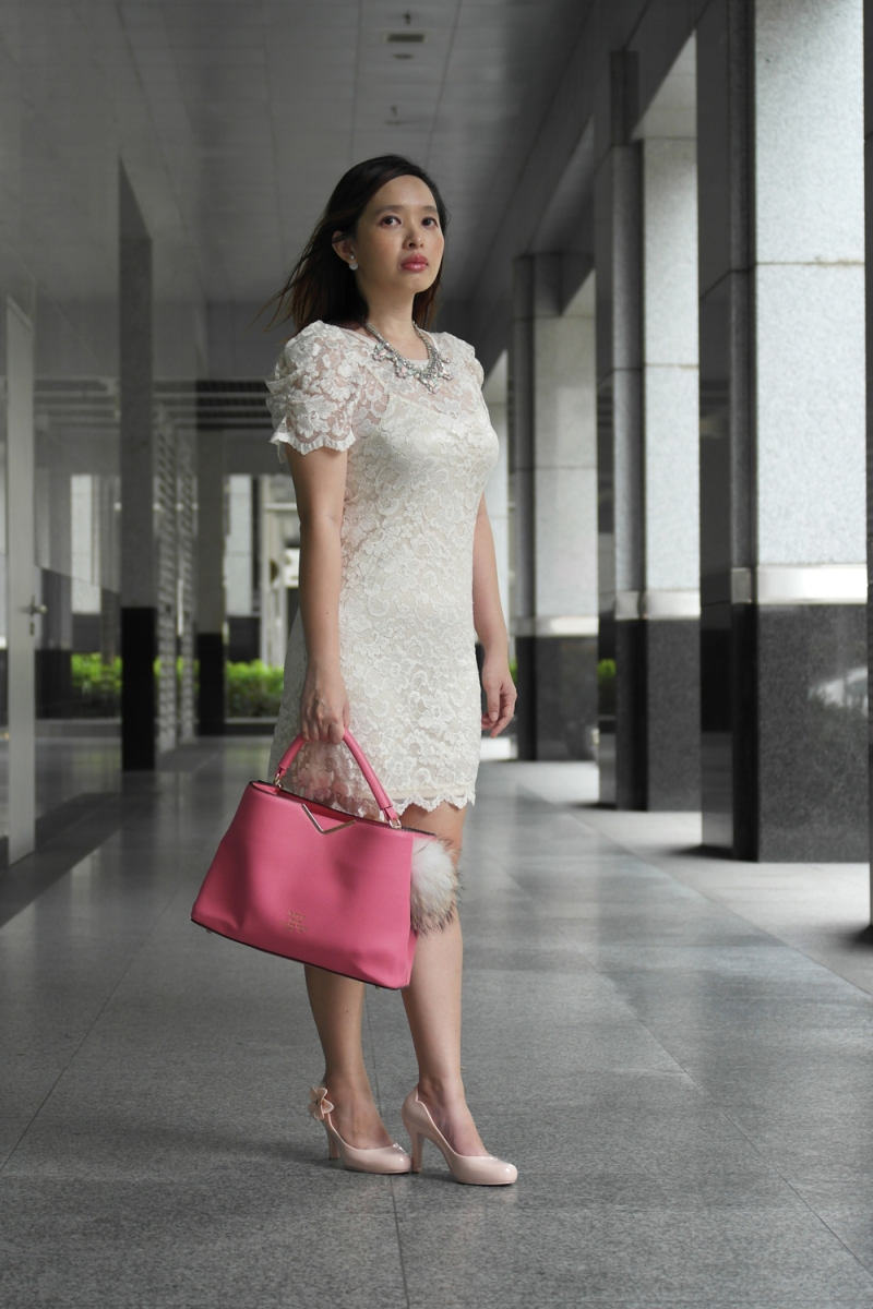 A White Lace Dress