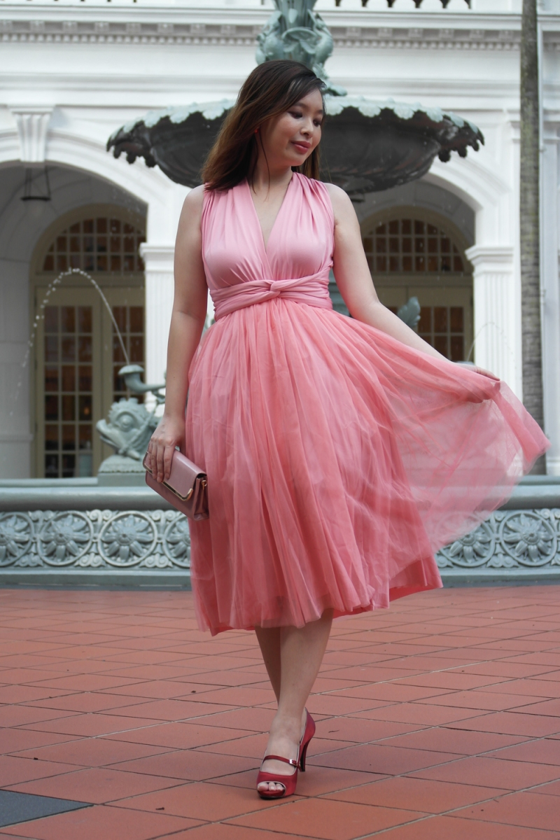A Pink Convertible Tulle Dress