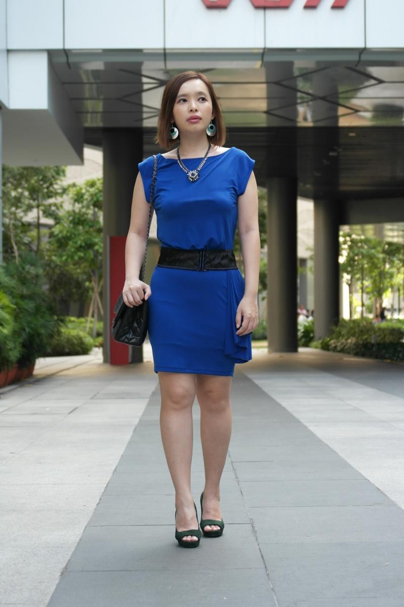 A Cobalt Blue Bodycon Dress