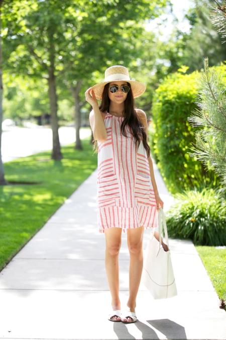 Hat summer dress