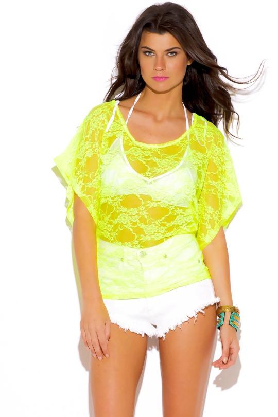 neon-yellow-sheer-lace-dolman-sleeve-tunic-top-73558__0